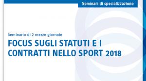 Focus sugli statuti e i contratti nello sport 2018