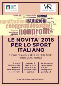 Programma Convegno CONI Bologna