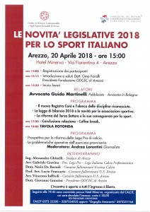 Locandina Arezzo 20-04-18
