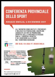 Conferenza Provinciale Sport 4 dicembre