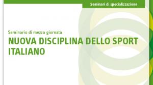 Nuova disciplina dello sport italiano